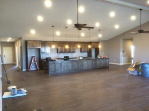 new home construction kitchen installation new kitchen cabinets wood cabinet installation installed built builder contractor